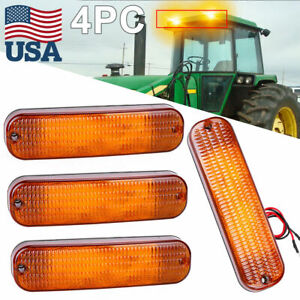 4 led Amber Cab Warning Light Ar60250 For John Deere 3055 Series 3055 3155 3255