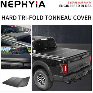Hard Tri fold Tonneau Cover 5 0ft 60in Truct Bed For 2019 2021 Ford Ranger