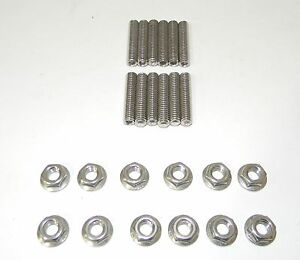 Big Block Ford Stainless Steel Tri power Carb Stud Kit New