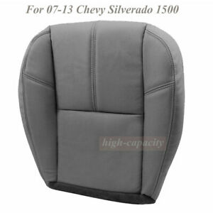 New Gray Driver Bottom Leather Seat Cover Fit For 2007 2013 Chevy Silverado 1500