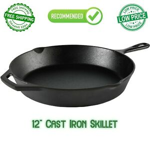 12 Inch Cast Iron Skillet Frying Oven With Handle Cooking Pre Seasoned Cookware $15.99