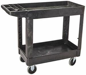 Rubbermaid Commercial Products 2 shelf Utility service Cart Small Lipped Shel