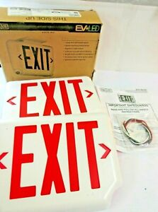 Dual Lite Exit Light Evcurwd4