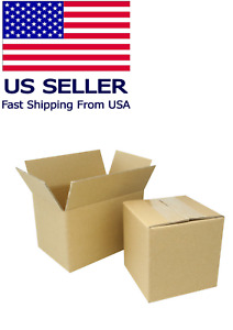 6x6x5 Corrugated Cardboard Packing Boxes 50 Mailing Moving Shipping Box Cartons