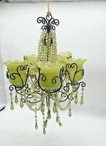 Petite Vintage Beaded French Empire Style Pretty Unique 1 Chandelier