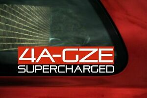 4agze Supercharged Sticker For Toyota Aw11 Mr2 jdm Ae92 Corolla Sprinter C95