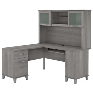 Kittle Reversible L shape Executive Desk With Hutch