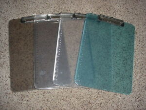 Lot Of 4 Low Profile Clip Boards Miss Matched New
