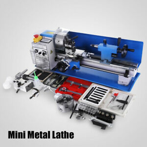 Mini Metal Lathe 550w 7x14 Inch For Bench Top Precision Parallel Variable Speed