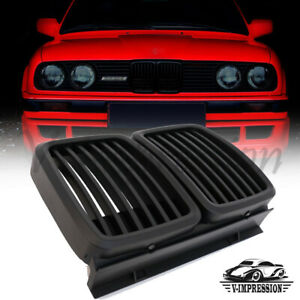 For 1982 1994 Bmw E30 Grill 3series Front Hood Kidney Grille M3 Look Matte Black