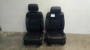Silverado Sierra Tahoe Avalanche Suburban Front Black Leather Seats 7693437