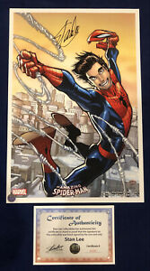 Amazing Spider Man #1 Humberto Ramos Litho Signed by Stan Lee with COA LIMITED $249.95