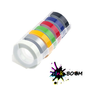 Lot Rolls Colorful Label Tape For Dymo 3d 3 8 X 3m Embossing Label Tape Maker