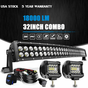 32inch 180w Led Light Bar Spot Flood Combo Fits Ford Offroad Truck Suv Atv 30 in