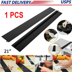 Kitchen Silicone Stove Counter Gap Cover Oven Guard Spill Seal Slit Filler Tools