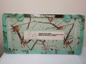 Realtree License Plate Frame Teal Camouflage Thinner Design New