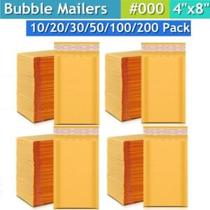 4x8 Kraft Bubble Mailers Bubble Mailing Envelopes Protective Small Shipping Bags