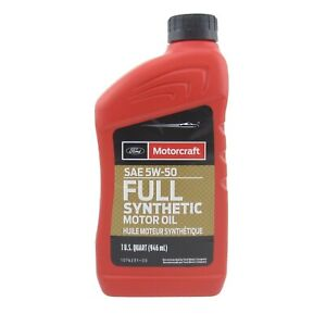 Motorcraft 5w50 Synthetic Engine Oil Xo 5w50 Qgt Case Of 12 Quarts Ford