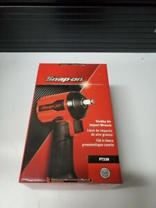 Snap On 3 8 Drive Stubby Air Impact Wrench Red Pt338 Snap On Tools