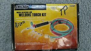 Chicago Welding 95671 Jewelers Oxy acetylene Mini Welding Torch W Tips Hoses