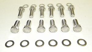 Chevy Sb 283 302 Stainless Steel Intake Manifold Bolt Kit New
