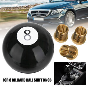 8 Eight Billiard Ball Car Gear Shift Knob Shifter Lever Black New