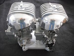 Hot Rat Rod Sb Chevy Tri Power Ac 33 Air Cleaner 1 Rochester