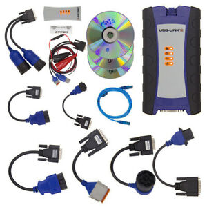 Heavy Duty Diesel Scan Truck Diagnostic Scanner Tool Usb Link Software A
