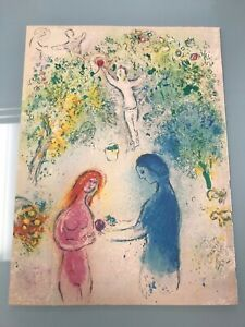 Marc Chagall Daphnis And Chloe Vintage Offset Lithograph Print