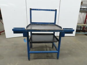 1 4 Thick Top Steel Machine Base Welding Table Work Bench 36 wx27 dx38 1 2 h