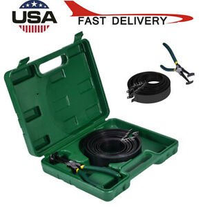 Auto Engines Piston Ring Compressor Cylinder Installer W Plier 14 Band Tool Us