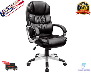 Leather High Back Office Chair Executive Ergonomic Task Gaming Heavy Duty Tall