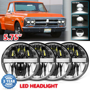 5 3 4 5 75 Inch Led Headlights Hi lo Beam Drl Turn Signal Projector H4 For Gmc