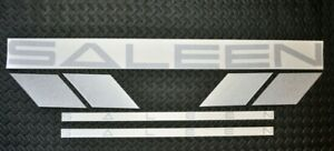 Silver 99 04 Saleen Stripes Decals Oem Set New Free Ship