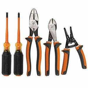 Klein Tools 1000v Insulated Screwdriver Tool Set 5 Piece Kit