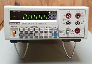 Advantest R6551t Digital Multimeter With Leads