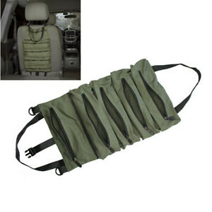 Multi Purpose Roll Up Tool Bag Wrench Pouch Hanging Zipper Carrier Storage Tote
