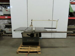 Invicta Delta Rt40 14 To 16 Table Saw 7 5 Hp 230 460v 3 Phase W rip Fence