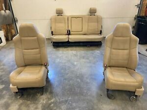 1999 To 2010 Ford F250 Tan Leather Crew Cab Seats