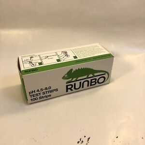 Runbo Ph 4 5 9 0 Test Strips 100 Strips New Free Shipping
