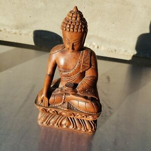 Great South East Asian Carved Wood Figurine