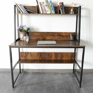 Computer Desk With Hutch And Bookshelf Home Office Desk Study Workstation Table