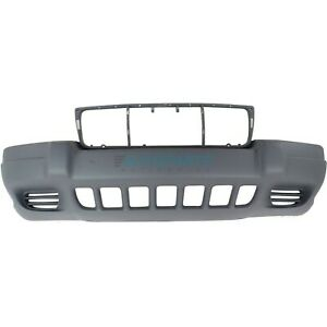 New Front Bumper Cover Textured Fits 1999 2003 Jeep Grand Cherokee Ch1000264