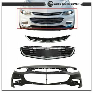 For Chevy Malibu 2016 2017 18 Front Bumper Cover Front Upper And Lower Grille