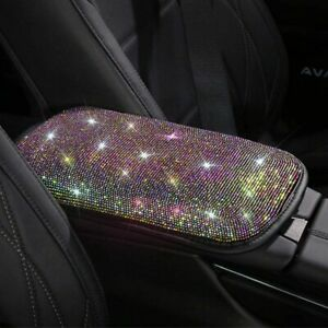 Universal Bling Bling Car Armrest Pad Cover Auto Center Console Box Cushion Mat