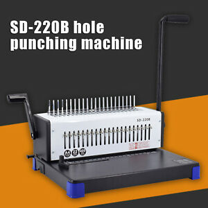 Paper Punching Binding Machine 21 Holes 400 Sheet Of A4 Papers Spiral Coil New