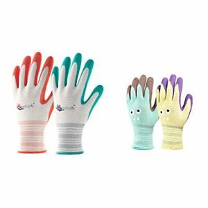 Cooljob 6 Pairs Gardening Gloves For Women And 2 Pairs Kids Garden Gloves For Ag