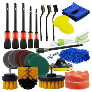 26 Pcs Car Detailing Brush Tool Kit Vehicle Car Engine Wheel Washing Cleaning