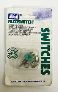 Augat Alcoswitch 77004 Dpdt Locking Toggle Switch 6 Amps brand New