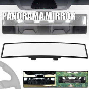 300mm Wide Flat Interior Clip On Car Truck Rear View Mirror Universal